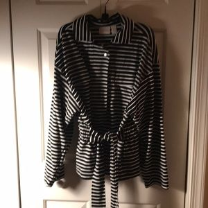 Black and white striped Chico's jacket